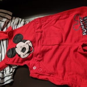 Mickey overalls set sz 18 month